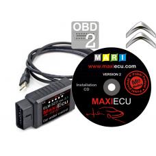ELM327 + MaxiEcu Citroen z przejściówką