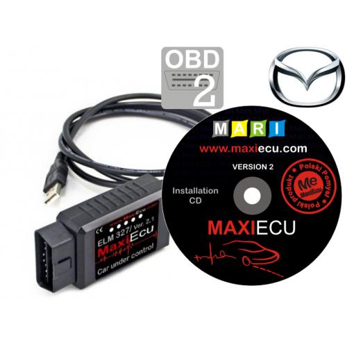 ELM327 + MaxiEcu Mazda z przejściówką