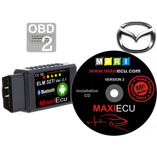 ELM327 Bluetooth + MaxiEcu Mazda z przejściówką