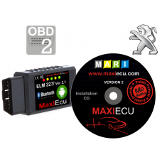ELM 327 Bluetooth + MaxiEcu Peugeot with adapter